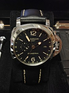 Panerai replica Luminor 1950 GMT PAM00531 Black 24H